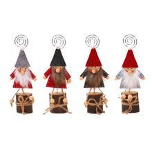Деревянная кукла Бизнес карта, держатель, фото зажим Обои для рабочего стола для рождественского декора