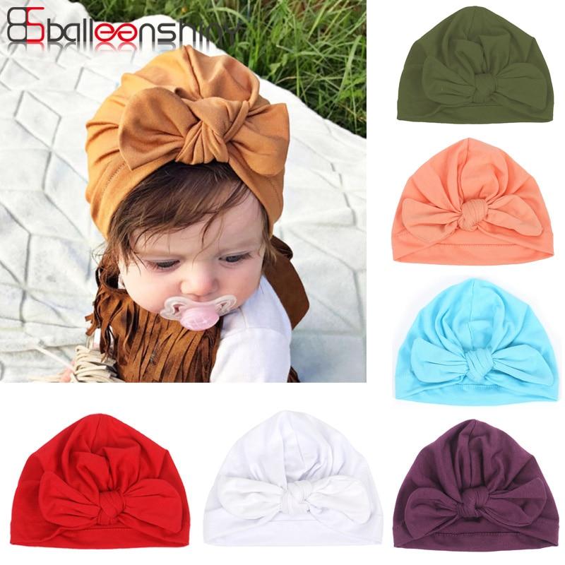 Balleenshiny Baby Turban Headwears Beanie Tiara Hair Baby-Accessories Newborn Girl Kids