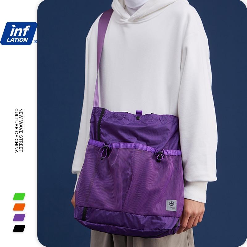 INFLATION Fashion Style Small Canvas Shoulder Bag Mini Square Messenger Crossbody Bags Casual Fashion Couple Bag 268AI2019