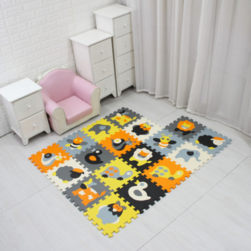 Cartoon Animal Pattern Carpet EVA Foam Puzzle Mats Kids Floor Puzzles Play Mat For Children Baby Play Gym Crawling Mats Toddler