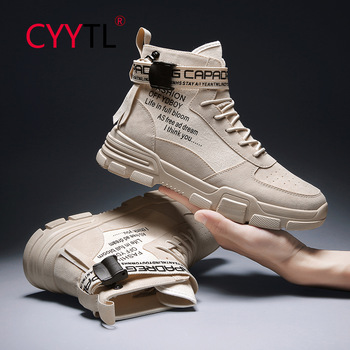 CYYTL-Botines de moda deportiva para hombre, Botas clásicas antideslizantes resistentes al desgaste, para senderismo y nieve, Militares