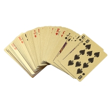 Gold Foil Poker Euros Style Plastic Playing Cards Waterproof Board Game