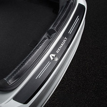 Leather Car Rear Bumper Stickers Trunk Guard Plate Molding For Renault megane 2 clio duster fluence logan captur Accessories