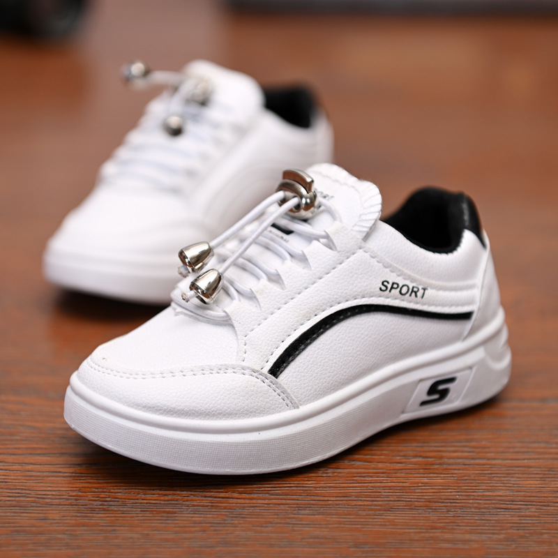 2020 New Fashion Casual Children Pu Leather Shoes Non-slip Breathable Sneakers Boys And Girls Students Flat Party Dress Shoes