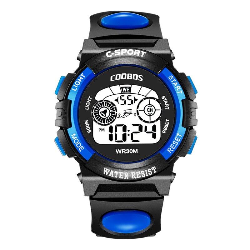 Hot Sale Kids Digital Watch Fashion Back Light Student Watch For Children Waterproof Design Calendar Alarm Clock Sports Watches