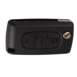 Image 2 - 3 tasten Auto Flip Folding Remote Eintrag Key Shell Fall Abdeckung Ersatz Auto Key Fob Für Citreon C2 C3 C4 c5 C6 Blank Klinge