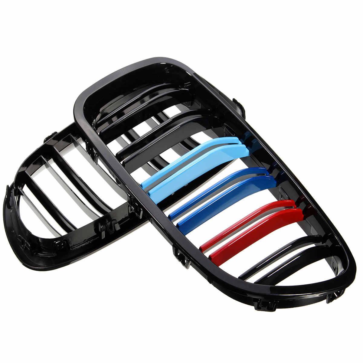 Hot 2pcs รถด้านหน้ากีฬาย่าง Grilles สีดำเงาสำหรับ BMW F10 F18 F11 M5 สไตล์ 2010 2011 2012 2013 2014 2015 2016