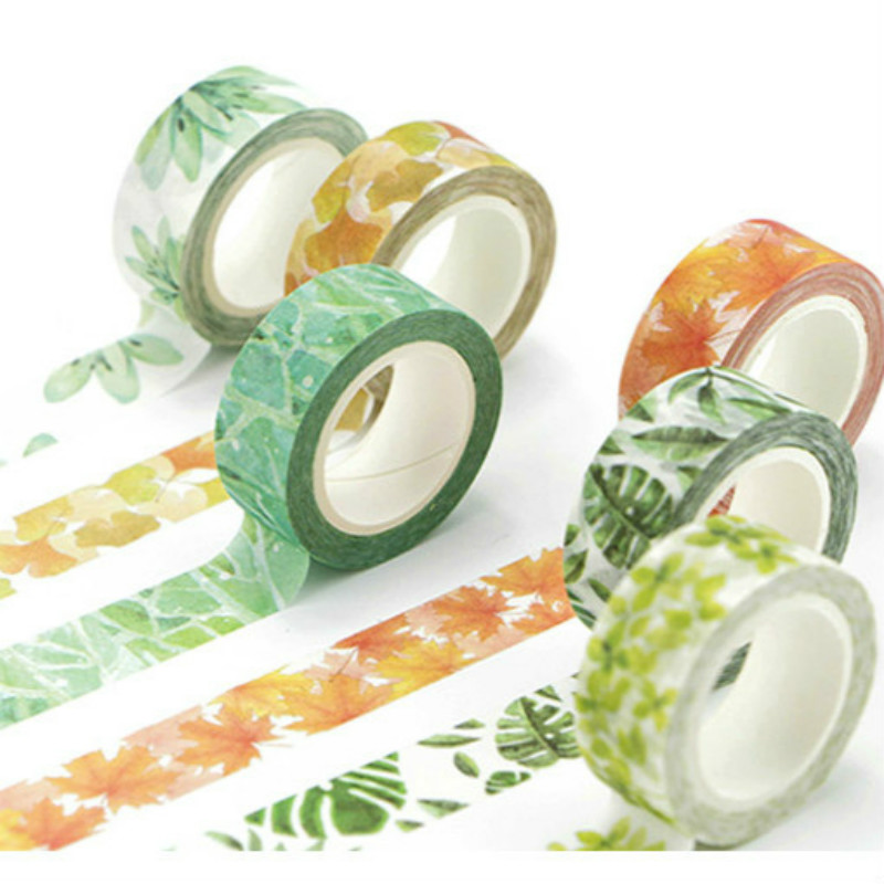 1pcs All Kinds of Leaves Craft Paper Masking Tapes Gift Scrapbooking DIY Tape Crafts Diary Deco Photo Album Decorative Stickers|Craft Paper| - AliExpress