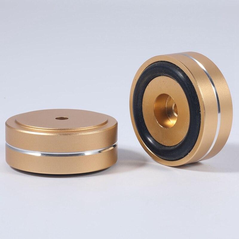 Купить 4pcs turntable isolation feet pads aluminum speaker spikes stand