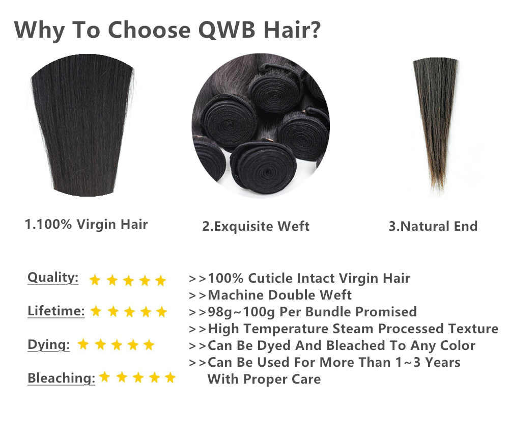 QWB envío gratis Body Wave 3 paquete/lotes 12 ''~ 28'' relación profesional brasileño virgen natural Color 100% extensión de cabello humano