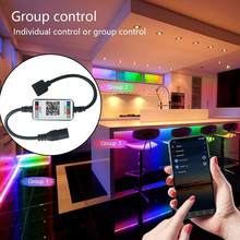 Smart RGB Bluetooth USB LED Remote Controller For 3528 Light RGB Strip Backlight Multicolor TV 5050 Changing G6B0(China)