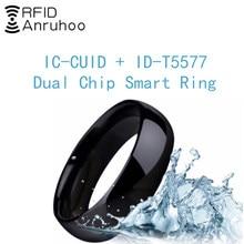 RFID Dual Chip Smart Ring Rewritable CUID Card Copy T5577 Key 13.56Mhz 125Khz Copier Badge Duplicator Waterproof Clone Tag