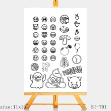 AZSG Mood expression Clear Stamps/Seals For scrapbooking DIY Card Making/Album Silicone Decoration crafts