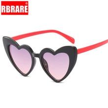 RBRARE прекрасные в форме сердца d детские солнцезащитные очки Многоцветный Личность анти-УФ уличные очки Симпатичные дикие Вогнутые формы