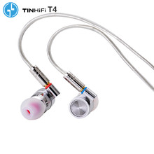 TINHIFI T4 HIFI Metal Earphone 10mm CNT Dynamic Driver HIFI Bass Earphone headset MMCX Cable TIN P1 T2 PRO T3 S7 F3 BA5 V90