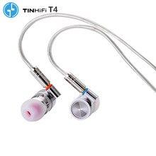 Tinhifi T4 Hifi Metalen Oortelefoon 10Mm Cnt Dynamische Driver Hifi Bass Oortelefoon Headset Mmcx Kabel Tin P1 T2 Pro t3 S7 F3 BA5 V90