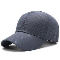 New Ultra slim Summer Cap quick drying fabric Summer Unisex Women Man Quick Dry Mesh Cap Running Hat Bone Breathable Hats