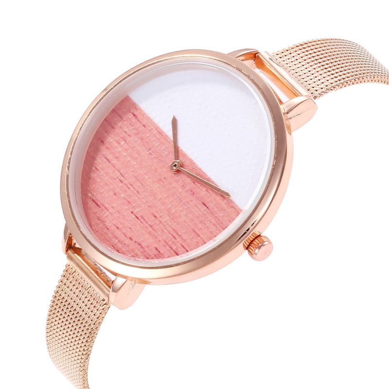 Shrimp Skin Soup Ms Duo La Hot Style Mesh Belt Han Edition L Fashion Watches Two Quartz Watch Kid Watches