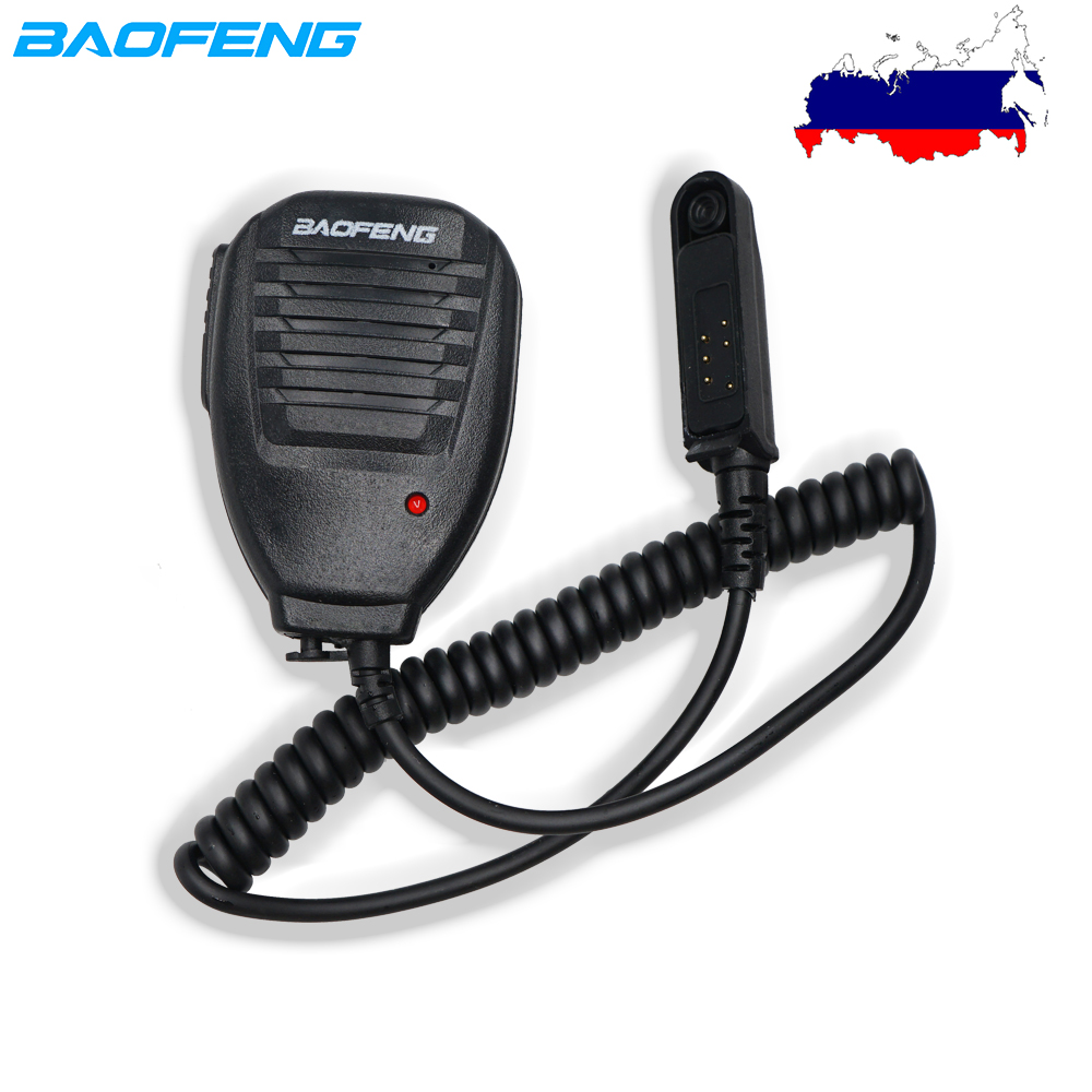 Original BAOFENG UV-9R Plus Handy Microphone Waterproof  Speaker Mic For Baofeng UV9R Plus BF-A58 UV9R BF-9700 S56 Walkie Talkie