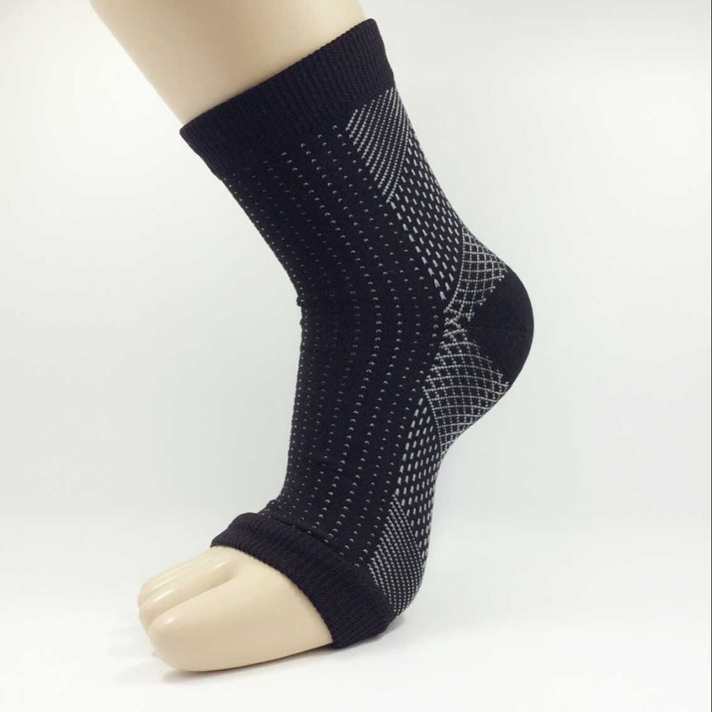 1 Pc Women Ankle Heel Support Men Compression Foot Sleeve Heel Arch Support Pain Relief Socks