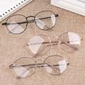 Новинка, модные круглые очки для женщин и мужчин, винтажные классические металлические плоские зеркальные оптические очки, оправа, унисекс ...