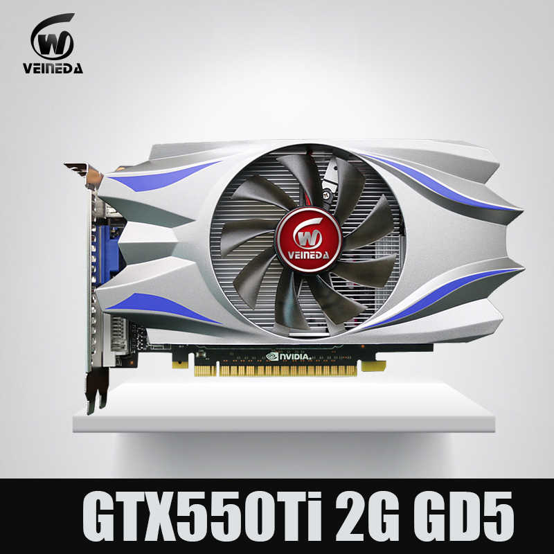 Veineda Video Thẻ GPU GTX550Ti 2GB GDDR5 128BIT 783/3400MHz Cho NVIDIA GeForce GTX550Ti 2GB