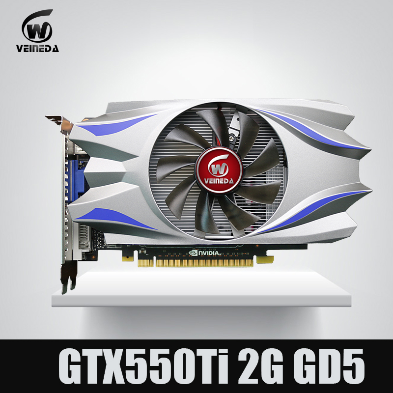 VEINEDA Video Card GPU GTX550Ti 2GB GDDR5 128BIT 783/3400MHz For NVIDIA GeForce GTX550Ti 2GB