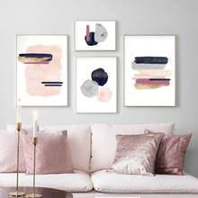 Современный абстрактный Золотой геометрический холст художественный