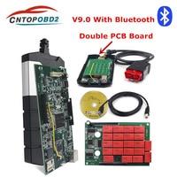 TCS Multidiag Bluetooth 2015.R3 2016.00 keygen Software Dual Green PCB V9.0 OBDII code reader truck diagnostic tool OBD2 scanner