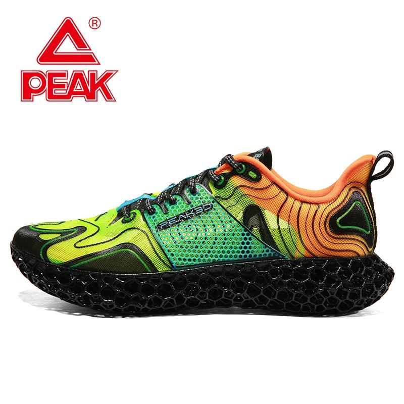 PEAK Men 3D Printed Shoes Fashion Leisure Lifestyle Shoes Mixed Color Trend Sports Shoes PEAK 3D FUTURE2.0 Sneakers Limited Sale
