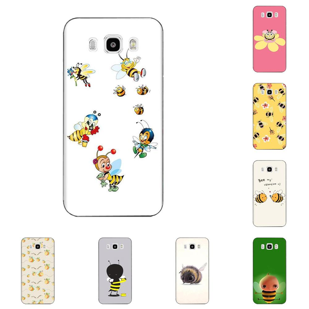 Cute Animal Bee Art Tpu Soft Black Phone <font><b>Case</b></font> For <font><b>Samsung</b></font> Galaxy A51 A71 A81 A90 5G A91 A01 S11 S11E S20 Plus Ultra image