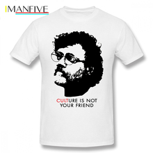 Shaman King T Shirt Culture Is Not Your Friend Terence McKenna T-Shirt Printed Fun Tee 6xl Summer Man Short Sleeve Tshirt