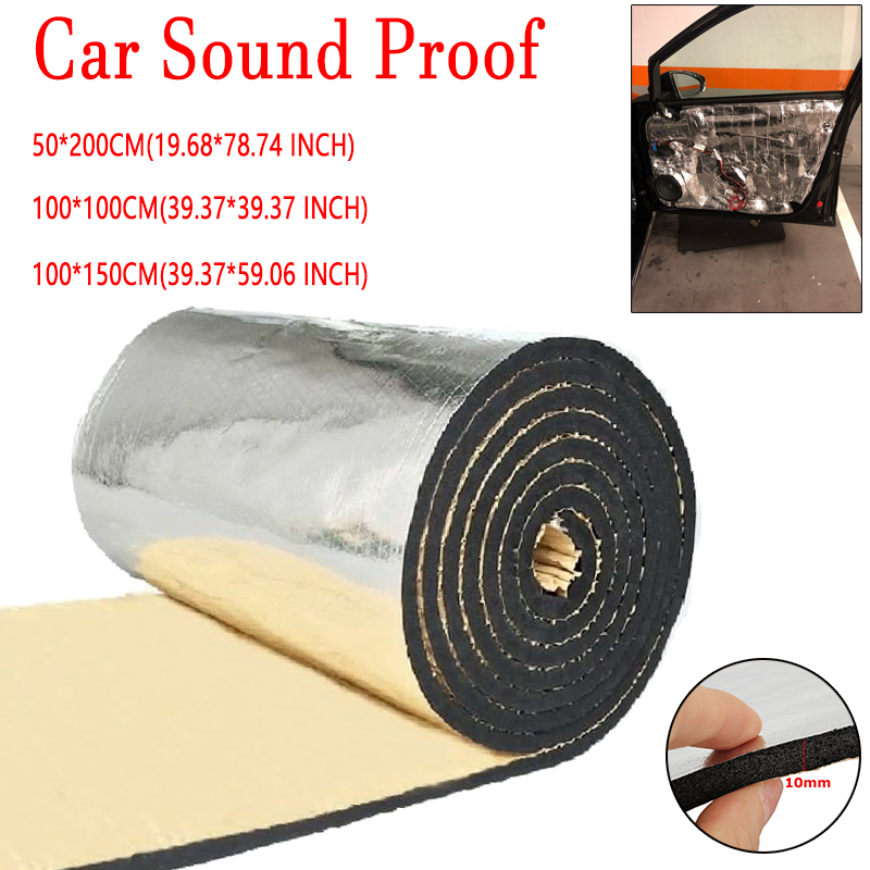 10mm Vehicle Insulation Closed Cell Foam Sheet Car Van Sound Deadener Insulation Mat Noise Wool Heat Thermal Proofing Pad