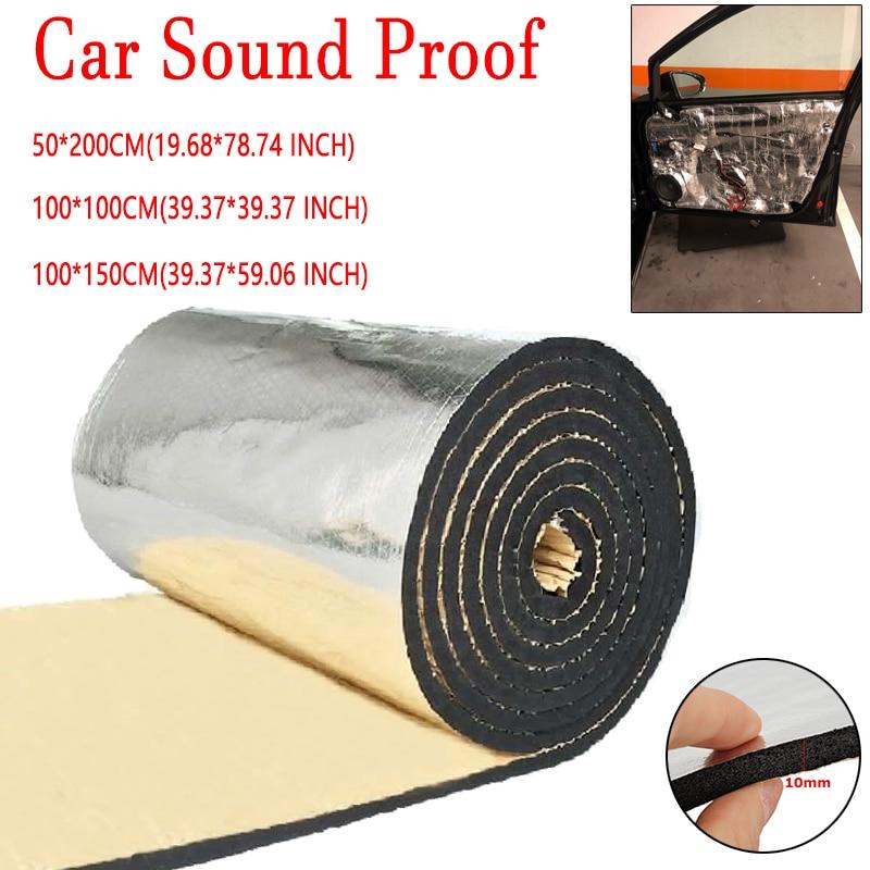 Heat Insulation Sound Deadener Dampening Mats Car Hood Doors Pad 45/'/'x39/'/'