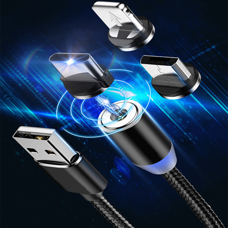 Magnetic USB Cable Fast Charging For Iphone TYPE-C Micro USB Android IOS Data line for Xiaomi Redmi <font><b>Samsung</b></font> Cord Magnet Plug image