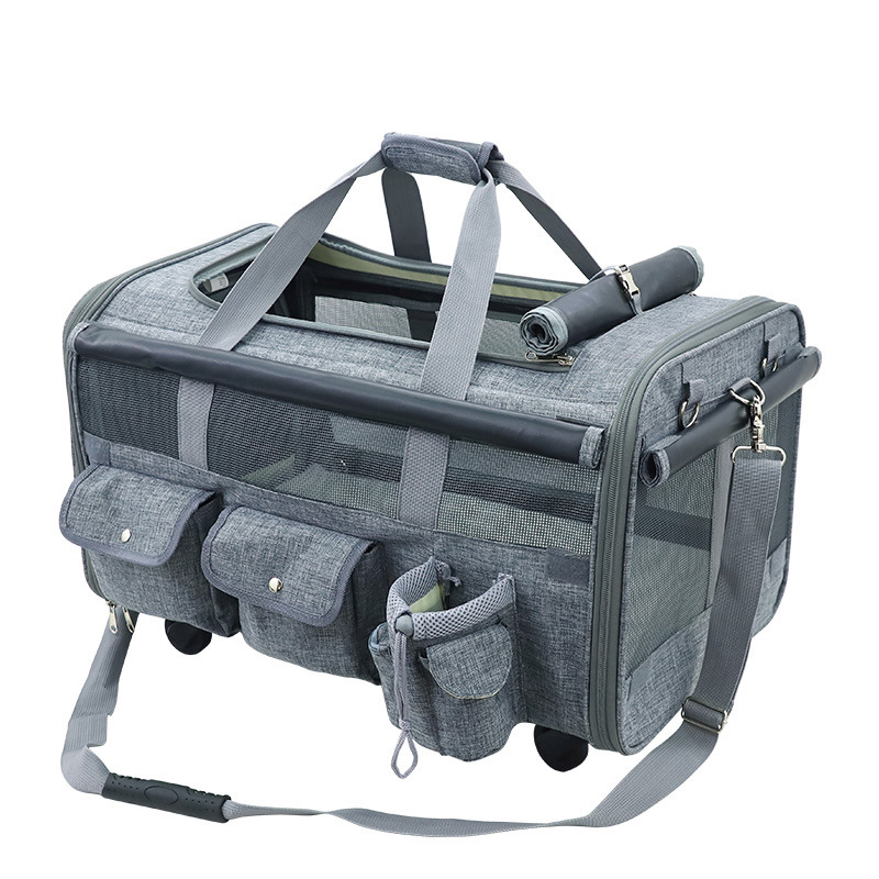 M8 Pieghevole 20 Kg di Medie E Grandi Dimensioni Pet Trolley Bag Traspirante Pet Rimorchiatore Fuori Cucciolo Gabbia Del Cane Del Gatto Traspirante Carrier - 2