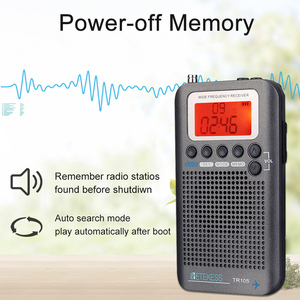 Image 5 - Retekess TR105 Portable AIR Band FM/AM/SW/CB/AIR/VHF Digital Tuning Radio with Timer ON/OFF Clock Function