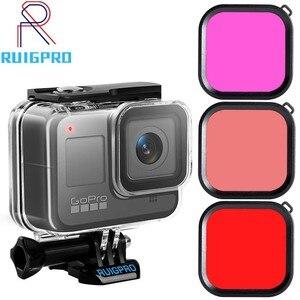 Image 1 - 45m Subacquea Custodia Impermeabile Per Gopro hero 8 Action Camera Go Pro 8 Nero accessori di Protezione di Caso di Accessori
