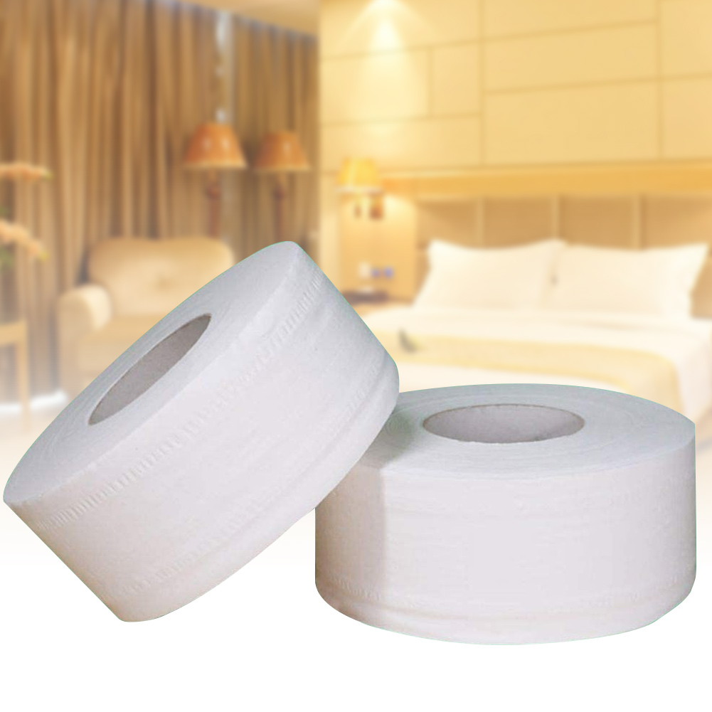 1 Roll Large Toilet Paper Roll Bathroom Bath Home Hotel Paper Towels Soft White 4-Ply New H9