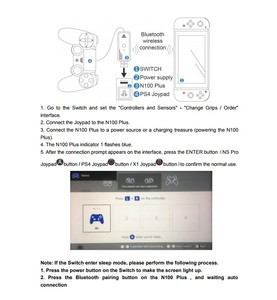 Image 5 - AOLION Coov N100 PLUS for PS4/Xbox One wireless controller Converter Adapter to Nintendo Switch Wired GamePad Joystick Converter