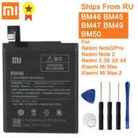 Xiao mi Xiao mi BM46 batterie d'origine pour Xiao mi rouge mi Note3 Note 3 Pro Note 2 rouge mi 3/3 PRO/3 S/3X/4X mi Max Max2 + outil
