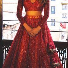 2 Piece Long Glitter Prom Dresses 2020 Long Sleeve V Neck Fo