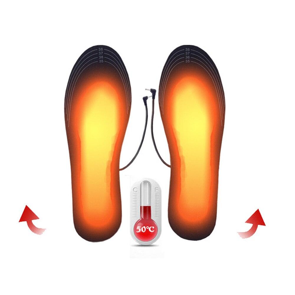 Can Be Cut 1 Pair USB Heated Insoles Foot Warming Pad Feet Warmer Sock Pad Mat Winter Outdoor Sport Heating Insoles Winter Warm