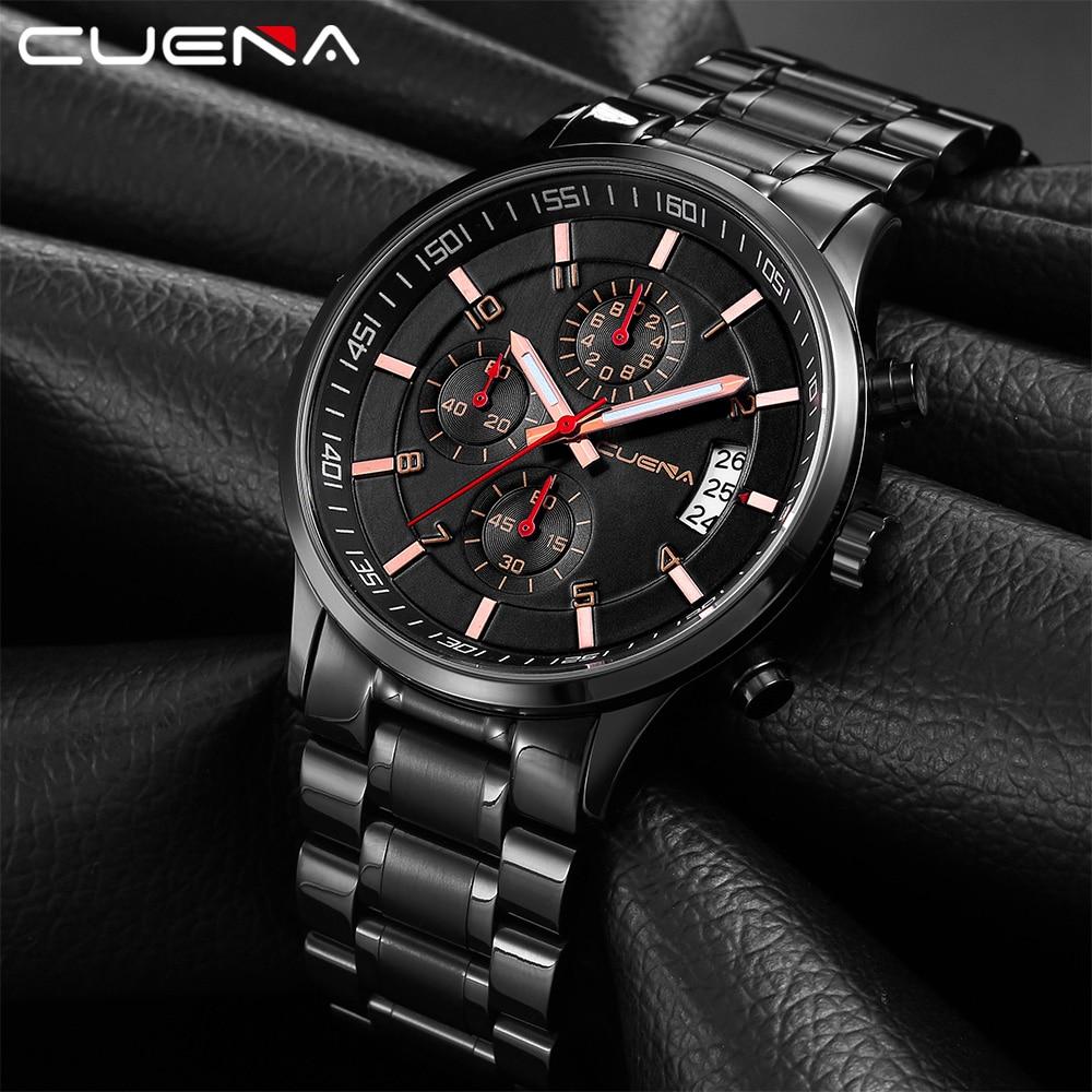 Relojes Hombre 2020 New Watches Men Luxury Brand Chronograph Male Sport Watches Waterproof Stainless Steel Quartz Men Watch
