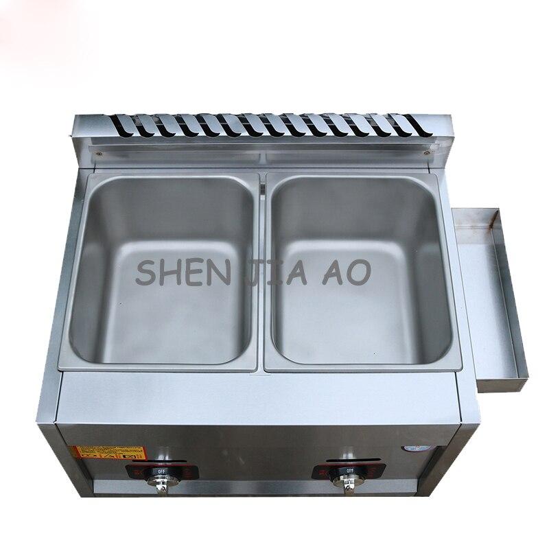 Gaz Commercial en acier inoxydable double/monocylindre gaz poêle frites frite poulet friture machine cuisson nouilles