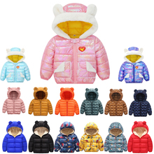 2020 Autumn Winter Baby Girls Jacket For Boys Coat Kids Warm Outerwear Coat For Boys Clothes Children Jacket 1 2 3 4 5 Year cheap Polyester Fashion Cotton Floral Regular O-Neck Outerwear Coats zipper Unisex Fits true to size take your normal size