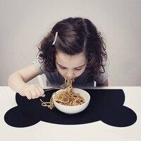 Милый медведь силиконовые подставки настольные салфетки подставки под тарелки для детей прокладки Coaster блюдо протектор стенд украшения дл...