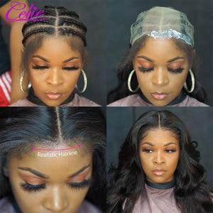 Image 3 - Celie vücut dalga dantel ön peruk s 28 30 inç dantel ön peruk 360 dantel ön peruk siyah kadınlar için 13x6 dantel ön İnsan saç peruk