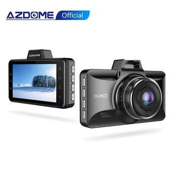 AZDOME FHD 1080P Dash Cam 3 Inch DVR Car Driving Recorder Night Vision, Park Monitor, G-Sensor, Loop Recording Excellent forUber
