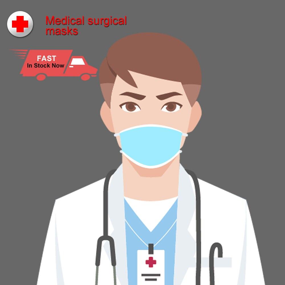 Fast Ship 100pcs 3 Layers Antivirus Dust Flu Anti Infection Coronavirus Medical Surgical Face Masks Disposable Mouth Mask